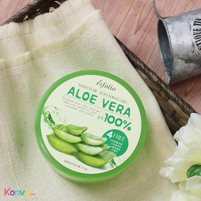 Esfolio Moisture Soothing Gel Aloe Vera 100% 300ml_1