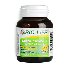 Bio-Life Evening Primrose Oil  & Fish Oil 500mg 60 Capsules