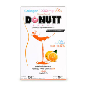 Donutt Collagen 10000mg Plus (15g x 10 Sachets) #Orange Flavor