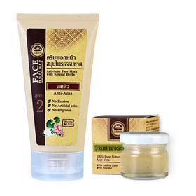 Khaokho Talaypu Anti-Acne Face Mask With Natural Herb 175ml (With 100% Pure Natural Aloe Vera 25ml )