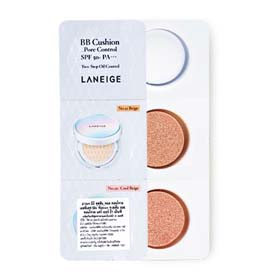 Set Laneige BB Cushion Pore Control SPF50+ PA+++ 2g (No.21 Beige, No.21C Cool Beige)