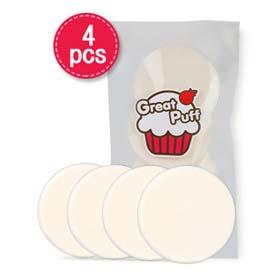 Great Puff Make Up Sponge Circle Puff 4pcs(สินค้านี้ไม่ร่วมรายการซื้อ 2 ชิ้นฟรีค่าจัดส่ง)