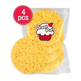 Great Puff Make Up Sponge Puff 4pcs(สินค้านี้ไม่ร่วมรายการซื้อ 2 ชิ้นฟรีค่าจัดส่ง)