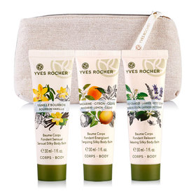 Yves Rocher Baume Corps Body Balm Set 3 Items Free! Gift Bag(Sensual 30ml + Energizing 30ml + Relaxing 30ml)