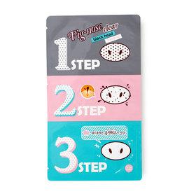 Holika Holika Pig-Nose Clear Black Head 3-step Kit(สินค้านี้ไม่ร่วมรายการซื้อ 2 ชิ้นฟรีค่าจัดส่ง)