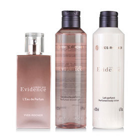 Yves Rocher Comme Une Evidence Limited Edition 2016 Set 3 Items(EDP 50ml+Shower Gel 200ml+Body Lotion 200ml)