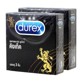 Durex Kingtex Condom 49mm (3pcsx2box)(สินค้านี้ไม่ร่วมรายการซื้อ 2 ชิ้นฟรีค่าจัดส่ง)
