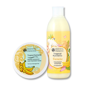 Set Oriental Princess Tropical Nutrients Banana Enriched Formula (Shampoo 250ml + Treatment Mask 160g)