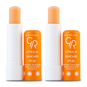 แพ็คคู่ Golden Rose Lip Balm SPF20 (4.6g X 2) Suncare