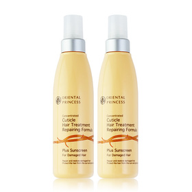 แพ็คคู่ Oriental Princess Concentrated Cuticle Hair Treatment Plus Sunscreen For Damaged Hair (125ml x 2)