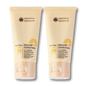 แพ็คคู่ Oriental Princess Natural Sunscreen UV Tinted Perfection SPF40/PA+++ (50gx2)
