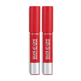 ซื้อ 1 แถม 1 Collection Work the Colour Matt Lip Butter 3gx2 #3 Crimson Velvet