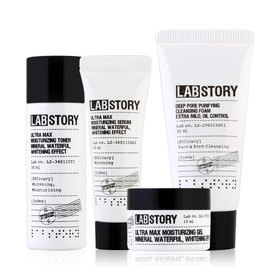 Labstory Mineral Moisture Mini Package Set 4 Items (Foam 30ml,Toner 30ml, Serum 10ml, Gel 10ml)