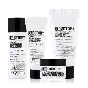 Labstory Mineral Moisture Mini Package Set 4 Items (Foam 30ml,Toner 30ml, Serum 10ml, Gel 10ml)