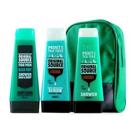 Original Source Mint And Tea Tree Gift Small Bag Set 3 Items