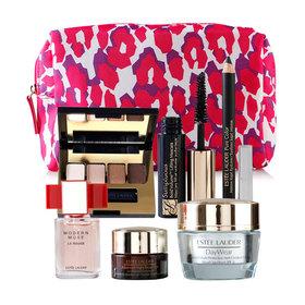 Estee Lauder Camouflage Pink Bag Set 6 Item