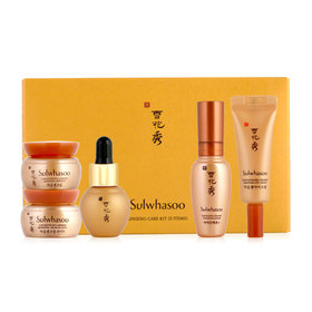 Sulwhasoo Ginseng Care Kit Set 5 Items (Serum 8ml + Essential Oil 5ml + Eye Cream 3ml + Cream Ex 5ml + Cream Ex Light 5ml)