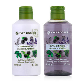 Yves Rocher Duo Set Relaxing Lavandin Blackberry (Shower Gel 200ml & Body Lotion 200 ml)