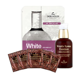 The Skin House Wrinkle System Essence 50ml (Free! The Skin House White Wrinkle Mask 1pcs + Wrinkle System Essence 5pcs)