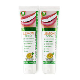 แพ็คคู่ Sparkle Double White Toothpaste 100g x 2  #Lemon Soda (SK0084)