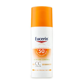 Eucerin Sun CC Cream Acne Oil Control SPF50+ PA++++ 50ml #Light (No Box)