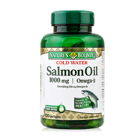 Nature's Bounty Cold Water Salmon Oil Omega-3 1000mg (120 Softgels)