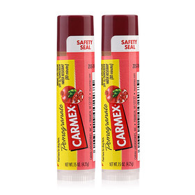 แพ็คคู่ Carmex Ultra Smooth Lip Blam Sunscreen (4.25g x 2) #Pomegranate