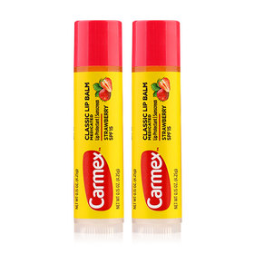 แพ็คคู่ Carmex Classic Lip Balm SPF15 4.25g #Strawberry