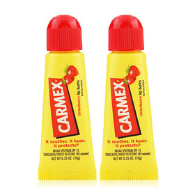 แพ็คคู่ Carmex Moisturising Lip Balm SPF15 10g #Strawberry