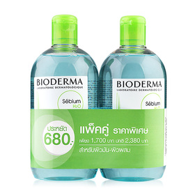 แพ็คคู่ Bioderma Sebium H2O Purifying Cleansing Micelle Solution (500mlx2)