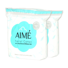 แพ็คคู่ Aime Facial Cotton 80g (150pcs x 2)