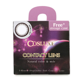 Cosluxe Contact Lens 1 Month -3.0 #Mercury (Dark Gray)