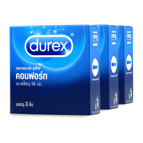 Durex Comfort Condom 56mm (3 pcs x 3 boxes)