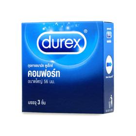 Durex Comfort Condom 56mm (3pcs)(สินค้านี้ไม่ร่วมรายการซื้อ 2 ชิ้นฟรีค่าจัดส่ง)