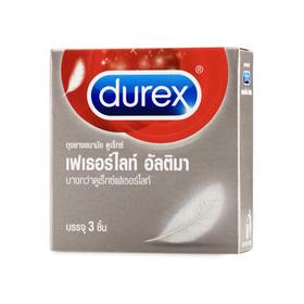 Durex Fetherlite Ultima Condom 52mm (3 pcs)(สินค้านี้ไม่ร่วมรายการซื้อ 2 ชิ้นฟรีค่าจัดส่ง)