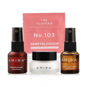 Amira The Starter Kit Set 4 Items (Agan Oil 100% 10ml + Agan Oil 70% 10ml + Argan Milk 5g +Clay Mask)