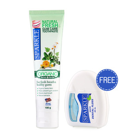 Sparkle Natural Fresh & Gum Care 100g (Free! Sparkle White Dental Floss)