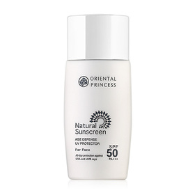 Oriental Princess Natural Sunscreen Age Defense UV Protector For Face SPF 50/PA+++ 50ml