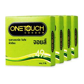 One Touch Joys condom 49mm (3pcs x 4) (สินค้านี้ไม่ร่วมรายการซื้อ 2 ชิ้นฟรีค่าจัดส่ง)