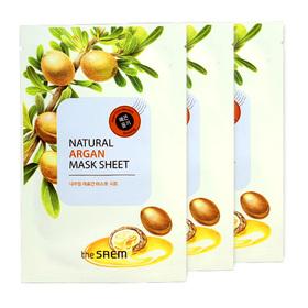 The Saem Natural Argan Mask Sheet (1pcs x 3) (สินค้านี้ไม่ร่วมรายการซื้อ 2 ชิ้นฟรีค่าจัดส่ง)