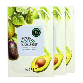 The Saem Natural Avocado Mask Sheet (1pcs x 3)