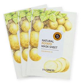 The Saem Natural Potato Mask (1pcs x 3) (สินค้านี้ไม่ร่วมรายการซื้อ 2 ชิ้นฟรีค่าจัดส่ง)