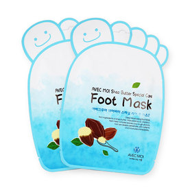แพ็คคู่ Avec Moi Shea Butter Special Care Foot Mask (2pcs)