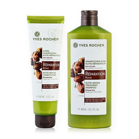 Yves Rocher Set 2 Items (Nutri-Repair Shampoo 300ml #13199 + Nutri-Repair Conditioner 150ml #14226)