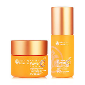 Oriental Princess Natural Power C Miracle Brightening Complex Set 2 Items (Day Cream 50g + Night Serum 60ml)