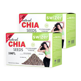 แพ็คคู่ Swizer Natural Chia Seeds 100% (15pcs x 2 boxes)