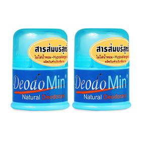 แพ็คคู่ DeodoMin Natural Deodorant Stick (20g x 2)