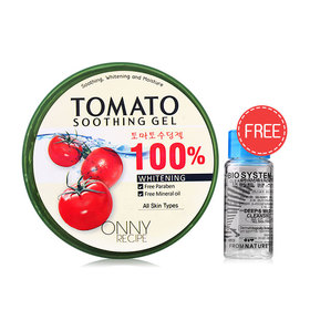 Onny Tomato Soothing Gel 100% 300g (Free! Bio System Cleansing Water 18ml)