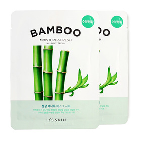 แพ็คคู่ It's Skin The Fresh Mask Sheet Bamboo 2pcs