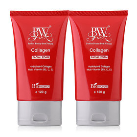 เเพ็คคู่ Biowoman BW Collagen Facial Foam (120g x 2)